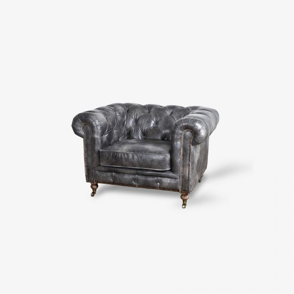 Chesterfield Grey Fauteuil