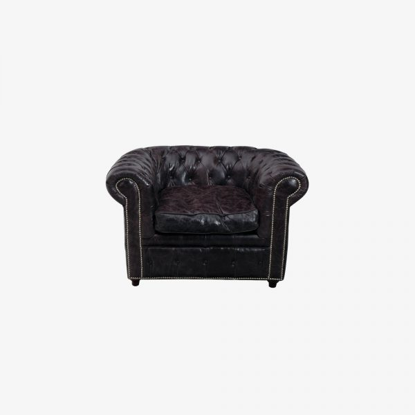Chesterfield Black Fauteuil